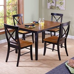Black Cherry 5 pc Dining Table & Chair Set