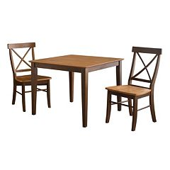 3-pc. Contemporary Table & Chair Set