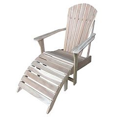 2-pc. Adirondack Lounge Chair & Footrest Set