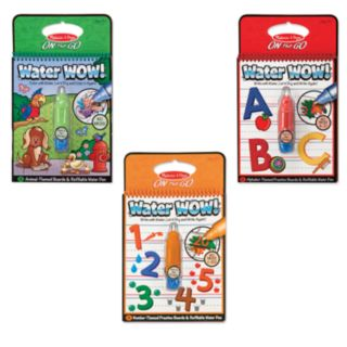 Melissa and Doug Water Wow Animals, Alphabet and Numbers Bundle