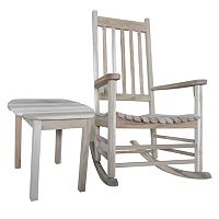 2 pc Rustic Porch Rocker & Side Table Set