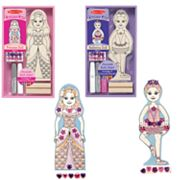 Melissa and Doug Create-A-Craft Princess and Ballerina Doll Bundle