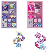 Melissa and Doug Create-A-Craft Heart and Flower Bead Set Bundle