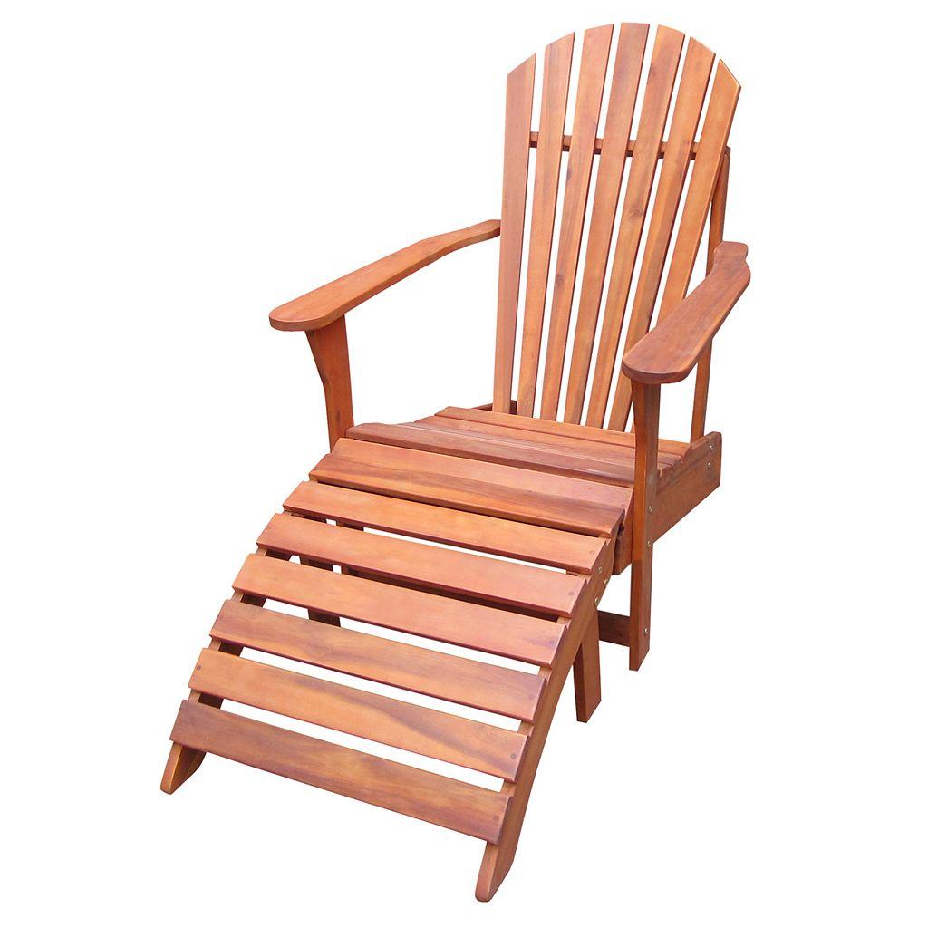 2-pc. Adirondack Lounge Chair & Footrest Set