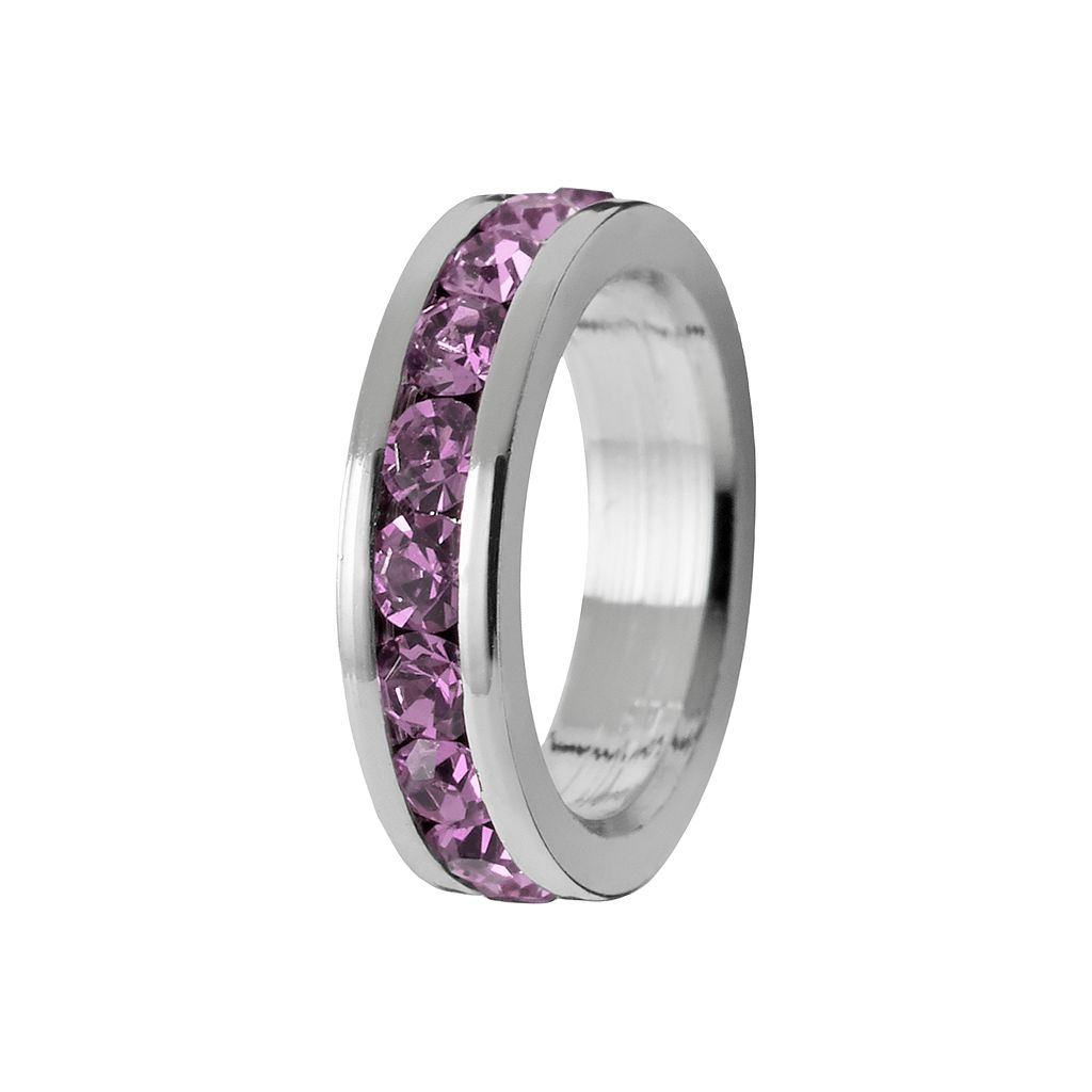 Traditions Sterling Silver Swarovski Crystal Birthstone Rondelle Charm