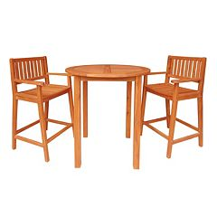 3-pc. Contemporary Bar Set