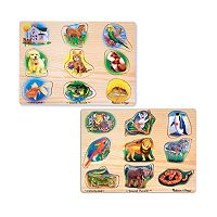 Melissa & Doug Pet & Zoo Animals Sound Puzzle Bundle