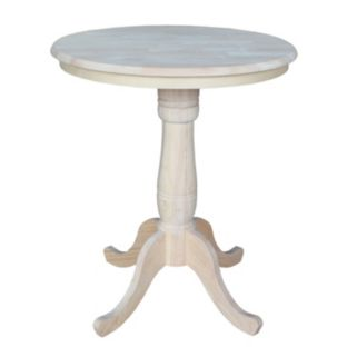 Round Pedestal Natural Dining Table