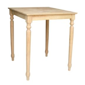 Finial-Styled Unfinished Table
