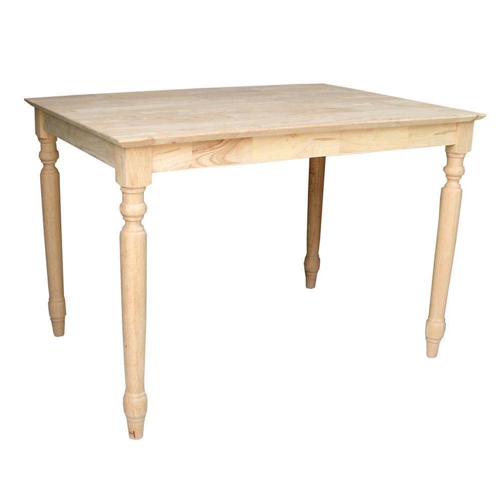 Classic Unfinished Carved Table