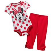 Disney Mickey Mouse and Friends Minnie Mouse Bodysuit and Leggings Set - Baby
