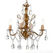 Gallery Gold-Tone Crystal 4-Light Chandelier