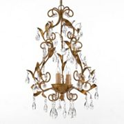 Gallery Gold-Tone Crystal 3-Light Chandelier