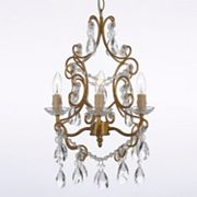 Gallery Crystal Floral 4-Light Chandelier