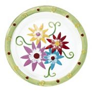 Pfaltzgraff Flower Glass Platter