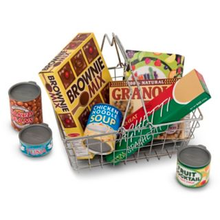 Melissa and Doug Let's Play House Grocery Basket Set