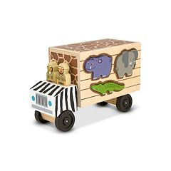 Melissa & Doug Animal Rescue Shape-Sorting Truck