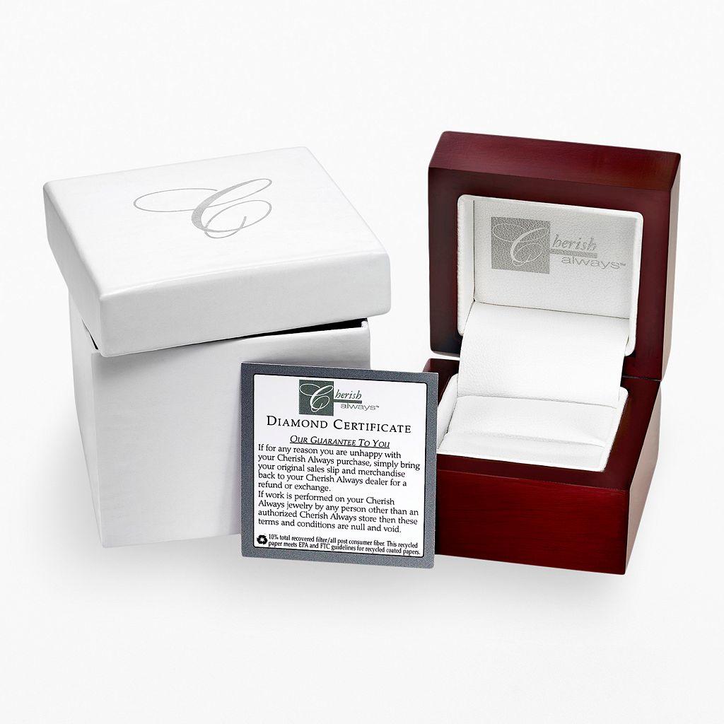Cherish Always Stainless Steel 1/5-ct. T.W. Black Diamond Wedding Ring - Men