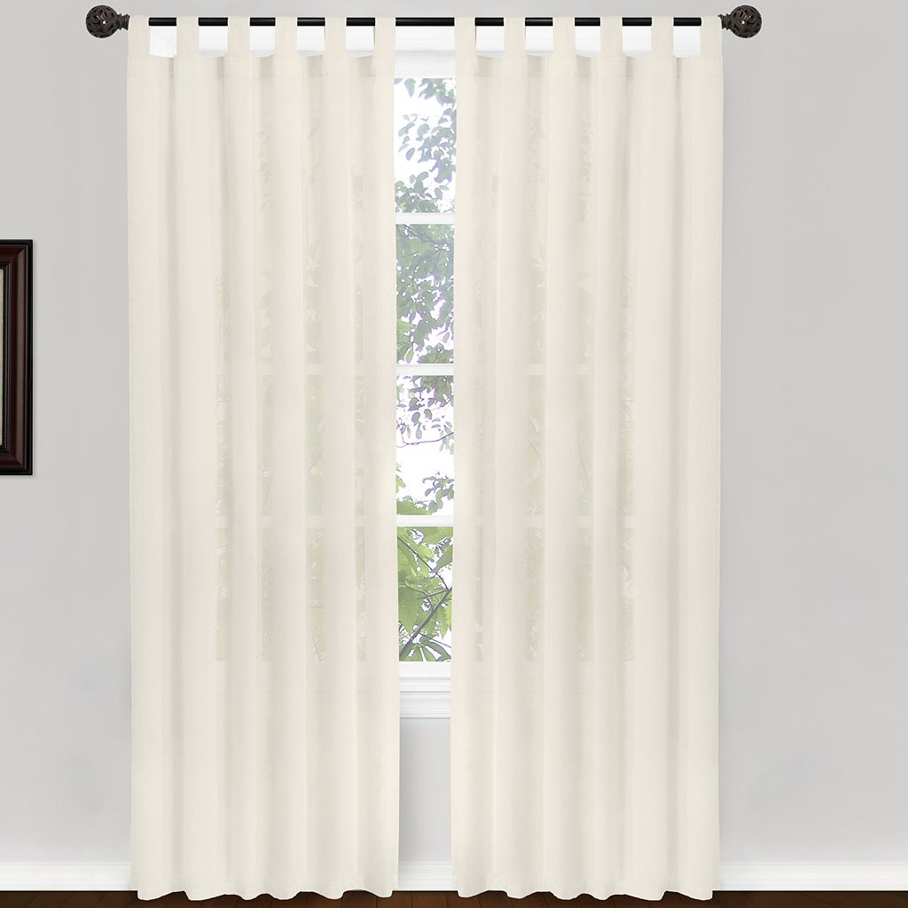 Park B. Smith 2-pack Cottage House Tab-Top Window Curtains - 50'' x 84''