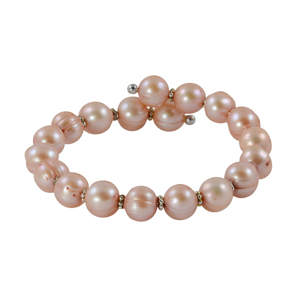 Sterling Silver Dyed Freshwater Cultured Pearl Cuff Bracelet