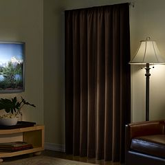 Light to Night Blackout 1-Panel Velvet Window Panel - 40'' x 95''