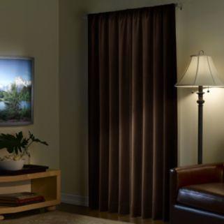 Light to Night Velvet Blackout Window Panel - 40'' x 95''