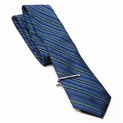 Apt. 9 Striped Tie and Tie Bar Set