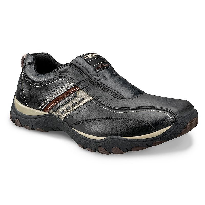Skechers Black Relaxed Fit Artifact Excavate Casual Shoes - Men