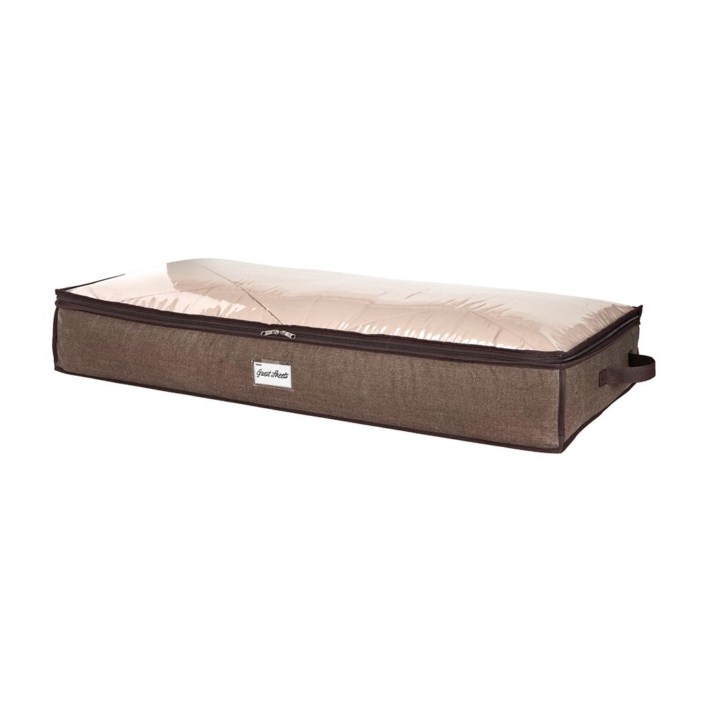 Kennedy Home Collection Clear Top Under-Bed Storage Bag