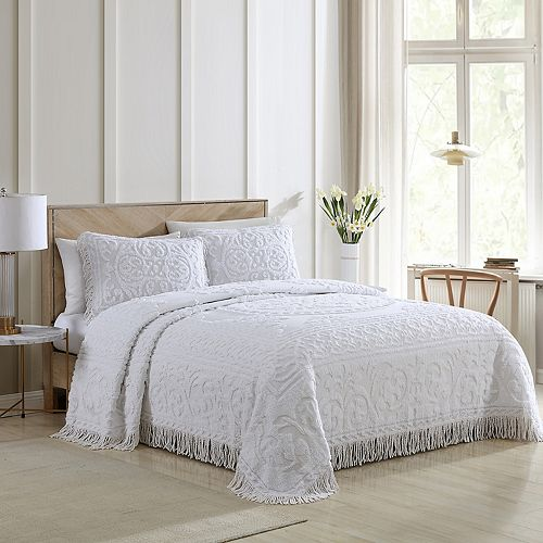 Medallion Chenille Bedspread by