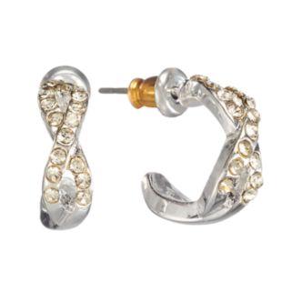 LC Lauren Conrad Twist Hoop Earrings