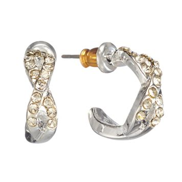 LC Lauren Conrad Twist Hoop Earrings