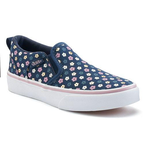 bd551f7626 Vans Asher Slip-On Skate Shoes - Girls