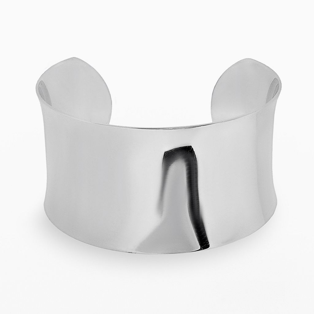 Stainless Steel Concave Cuff Bracelet