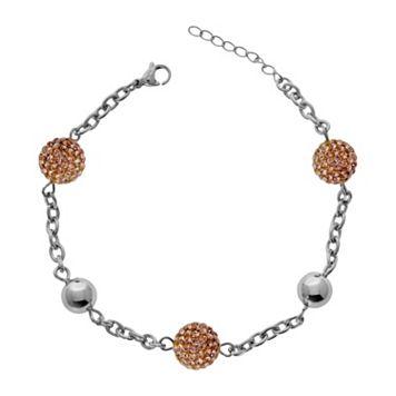 Stainless Steel Crystal Bracelet
