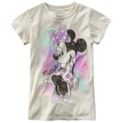 Disney Mickey Mouse and Friends Minnie Mouse Watercolor Tee - Girls 7-16