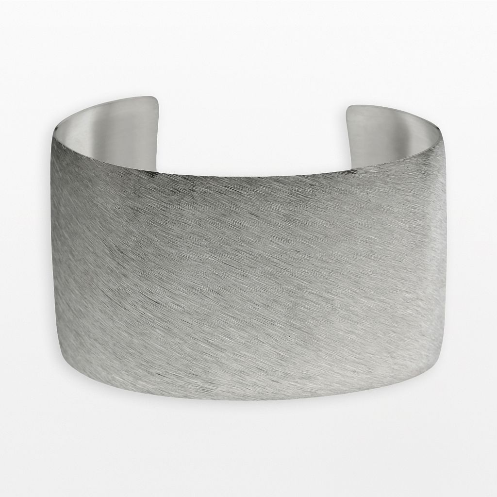 Stainless Steel Brushed Cuff Bracelet