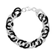 Stainless Steel Two-Tone Rolo Chain Bracelet