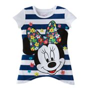 Disney Mickey Mouse and Friends Minnie Mouse Striped Tee - Toddler