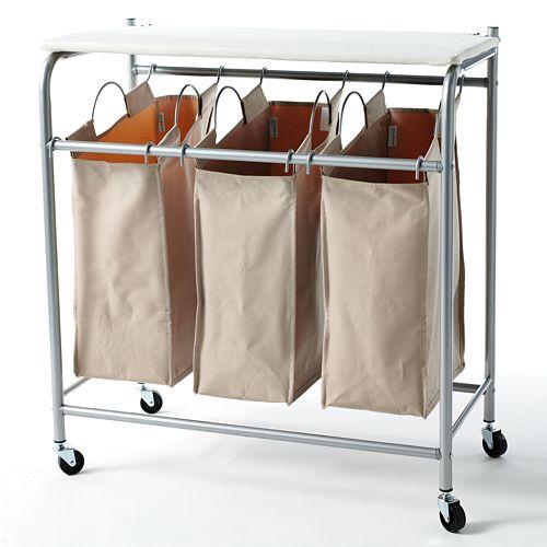 neatfreak Triple Sorter Hamper with Ironing Board