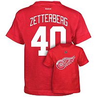 Boys 8-20 Reebok Detroit Red Wings Henrik Zetterberg Premier Tee