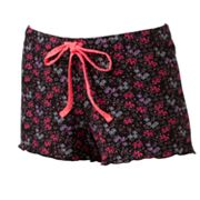 Candie's Sweet Bouquet Knit Ruffle Pajama Shorts
