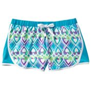 SO Heart Mesh Performance Shorts - Girls 7-16