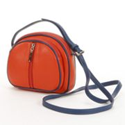 PAVA Contrast Leather Crossbody Bag