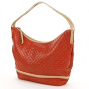 PAVA Geometric Leather Hobo