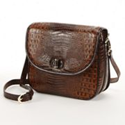 PAVA Embossed Lizard Leather Handbag