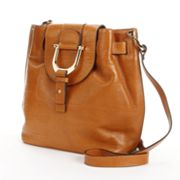PAVA Leather Messenger Crossbody Bag