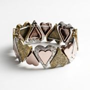 Croft and Barrow Heart Stretch Bracelet