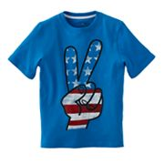 Jumping Beans Patriotic Peace Sign Tee - Boys 4-7x