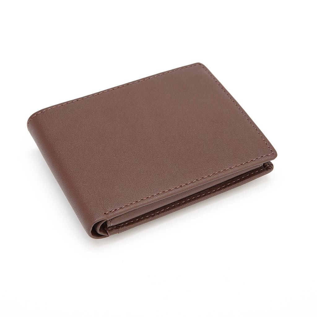 Royce Leather RFID-Blocking Euro Wallet